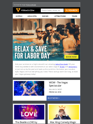 Vegas - MAJOR Labor Day SALE | Get Up To 50% Off!