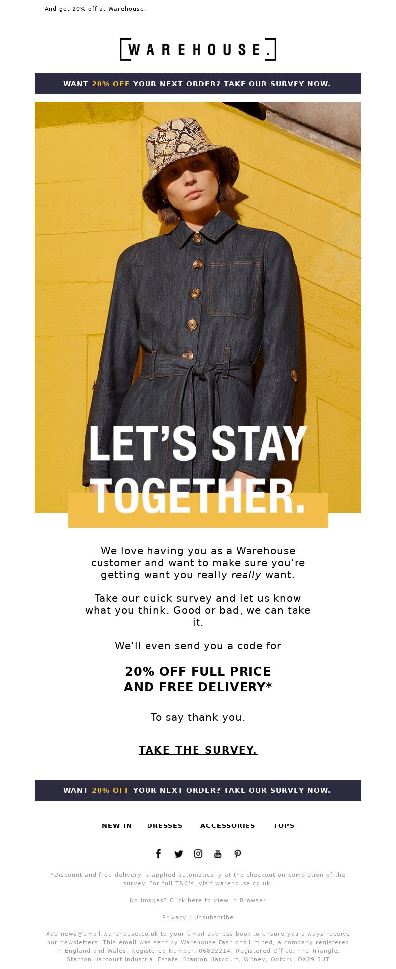 Warehouse Fashion (UK) - [Be honest.]