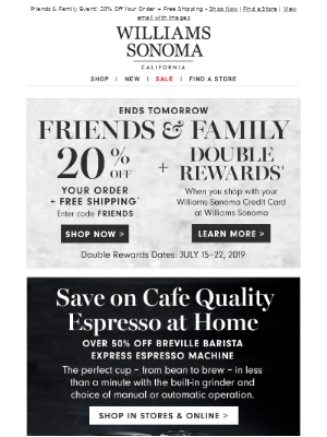 Save on Café Quality Espresso at Home  – Over 50% Off