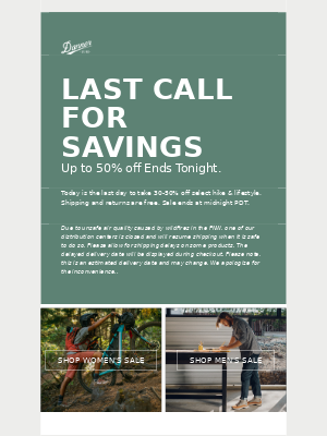 Danner - LAST DAY — Sale Ends Tonight