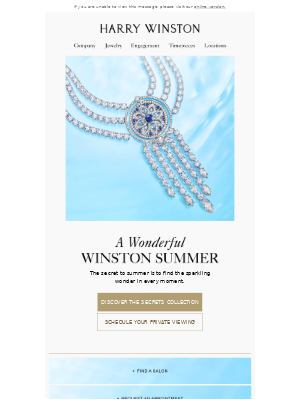 Harry Winston - Discover the Secret to Summer