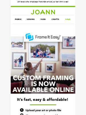Joann Stores - Try custom framing online! It's super easy and so affordable!