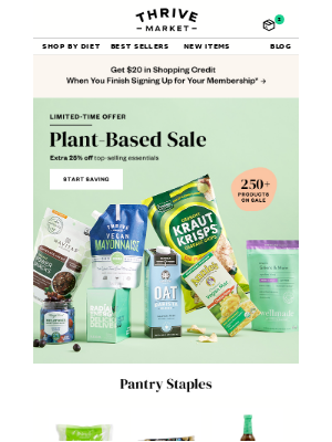 25% off plant-based snacks, vitamins & more