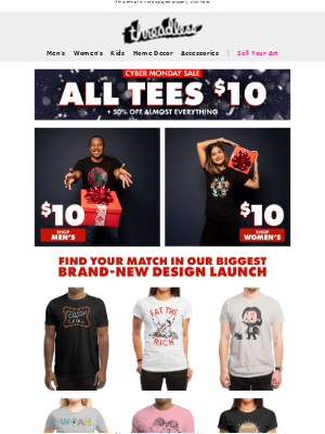 ⚡ALL TEES $10! Best. Cyber Monday. Ever. ⚡