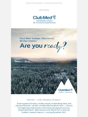 Club Med - Winter at Club Med Québec Charlevoix ❄️
