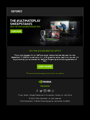 NVIDIA - Win 1 of 30 GeForce RTX 3080 graphics cards!