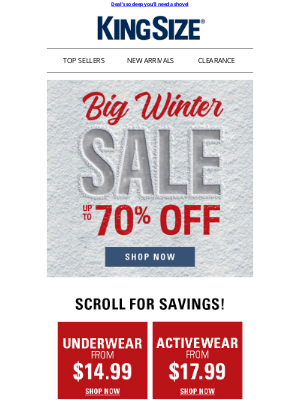 King Size Direct - The big one's here. Up to 70% off BIG WINTER SALE!