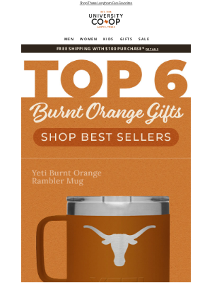 University Co-op - 6 Top-Rated Longhorn Favorites!