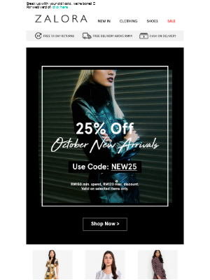 New week, new fit at EXTRA 25% Off!