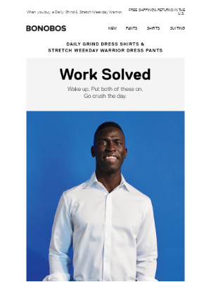 25% off a new work outfit.