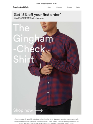 Check yourself: The Gingham Shirt