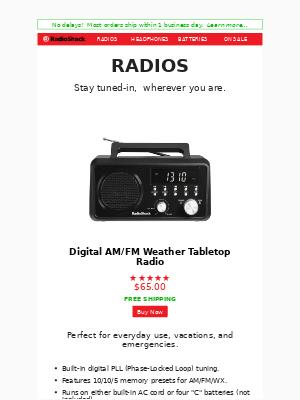 RadioShack - Radios