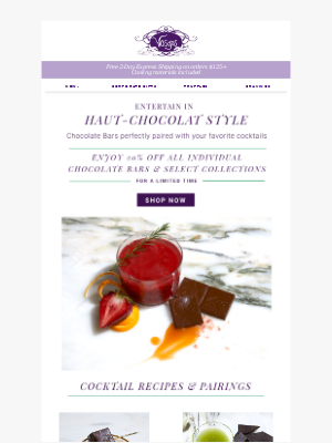 Perfectly Paired: Cocktails + Exotic Chocolate Bars