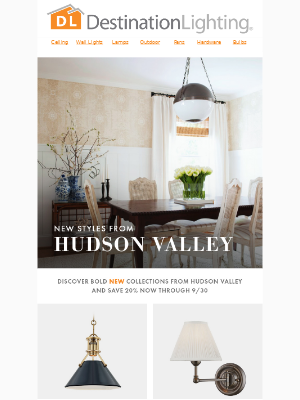 Save Big on New Styles from Hudson Valley