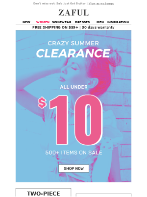 Summer Clearance👉ALL UNDER $10 👏👀