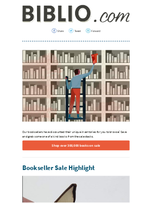 Biblio.com - Just look at all of these books on sale...