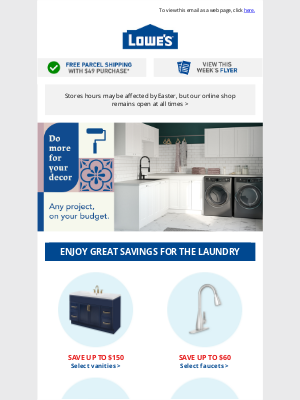 Lowes Canada - Celebrate now with huge savings on appliances!
