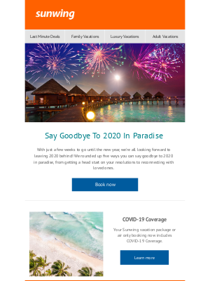 Sunwing Vacations Inc. (CA) - Say Goodbye To 2020 In Paradise