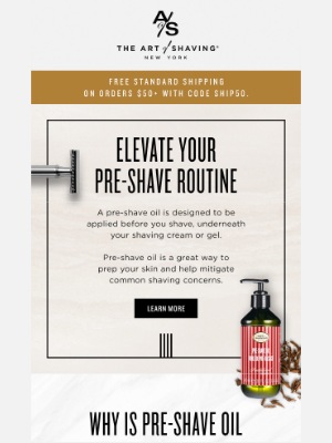 The Art of Shaving - 4 reasons to use pre-shave oil