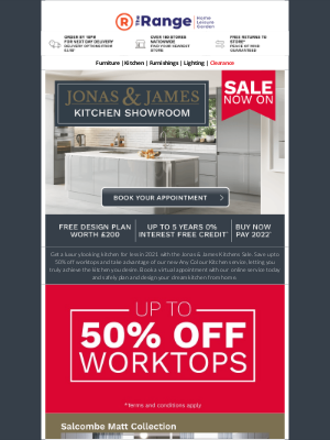 The Range (UK) - Seen Our Kitchen Sale? Save Up To 50% Off Worktops