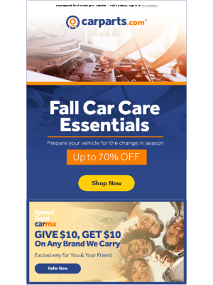 CarParts - Don't Miss Out: Fall Season marks the perfect time for car care