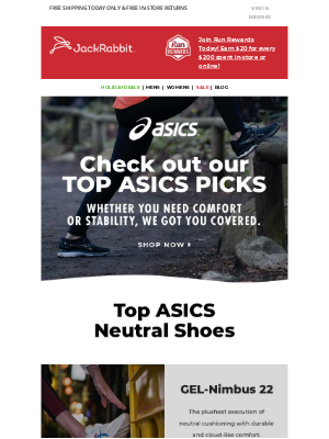Jackrabbit - Neutral or stability? ASICS has your perfect match