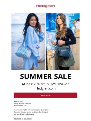 Hedgren - Summer Sale