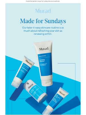 Murad - Sundays are for skincare & selfcare (and sleeping in…). 💤