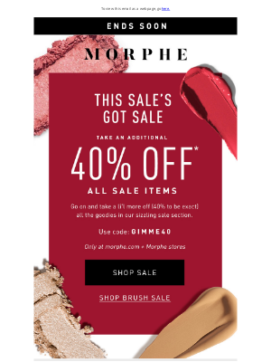 Morphe Brushes - 40% off of sale doesn't last forever
