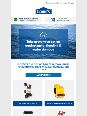 Lowes Canada - Protect Your Home from Mold, Water Damage & Flooding!