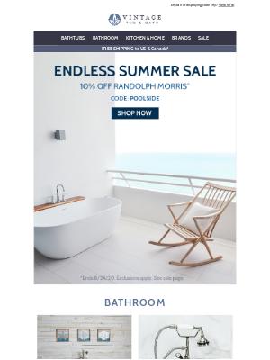 Vintage Tub - Let summer never end!
