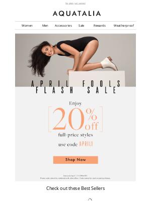 Aquatalia - 20% Off Full-Price Styles | April Fools' Flash Sale