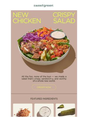sweetgreen - crispy not-fried chicken