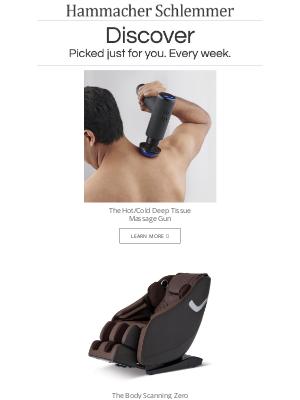 Hammacher Schlemmer - The Hot/Cold Deep Tissue Massage Gun and More...