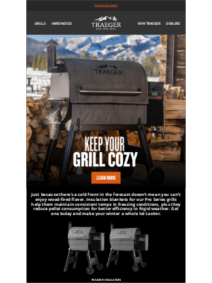 Traeger Grills - Grill Through the Coldest Weather