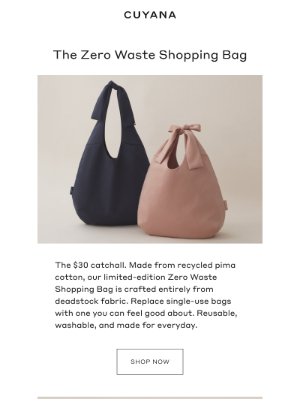 Cuyana - Introducing the Zero Waste Shopping Bag