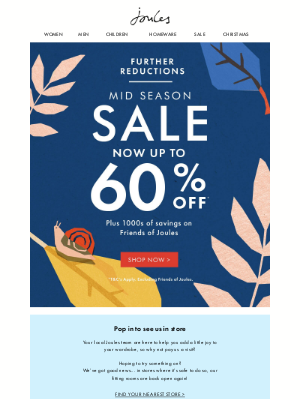 Joules (UK) - Now up to 60% off