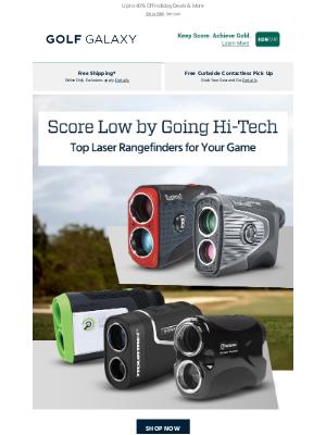 Golf Galaxy - Top Laser Rangefinders from Bushnell, Tour Trek & More