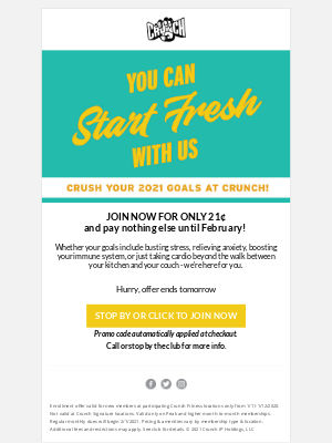 Crunch Fitness - You Can Start Fresh With Us