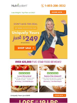 Nutrisystem - Click Quick: Uniquely Yours is Just $249!