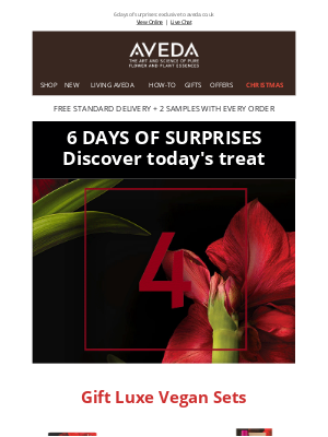 Aveda (UK) - You can't miss today's surprise.. Unlock DAY 4 NOW!