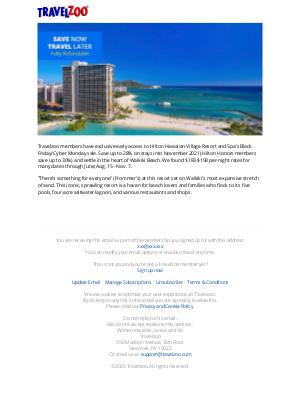 Travelzoo - Hilton Hawaiian Village Sale: Dates thru 2021 from $183