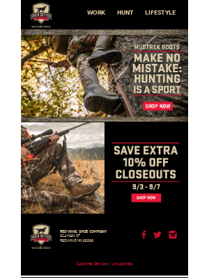 Red Wing Shoes - The Hunt For The Best Waterproof Hunting Boot Is Over