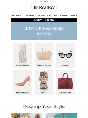 The RealReal - Unbelievable Bottega & Gucci On Sale