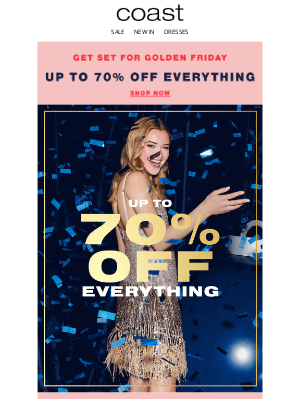 Coast Stores (UK) - This is not a drill: up to 70% off everything