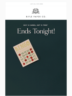 Rifle Paper Co. - Buy 5, Get 5 Ends Tonight!