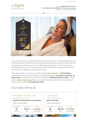 Regent Seven Seas Cruises - Give Yourself the Gift of Rest & Rejuvenation