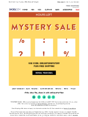 SHOES - HOURS LEFT || Reveal Your Deal!
