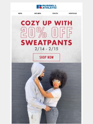 Russell Athletic - Stay Cozy with 20% Off Sweatpants!