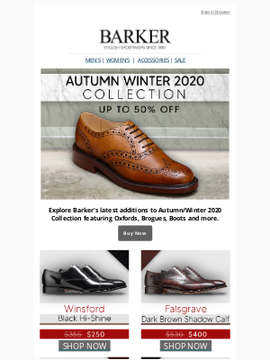 Barker Shoes (UK) - Great discounts you don't want to miss!